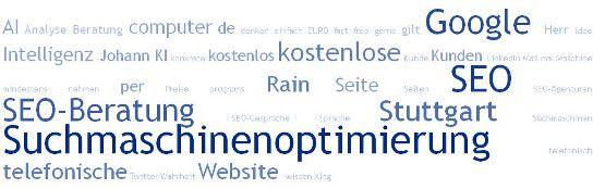 SEO-Beratung Stuttgart, Suchmaschinenoptimierung Johann Rain - SEO Google kostenlos, Webseite